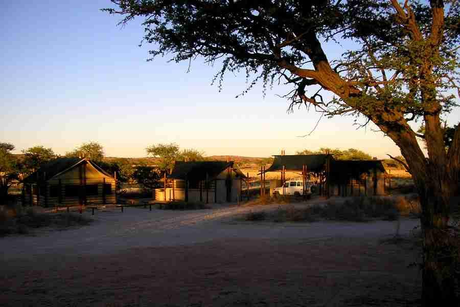 Campo tendato Namibia Deserto